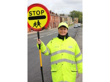 CROSSING patrol: Eileen has been a lollipop lady for Rochdale Borough Council since 1983.
