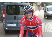 Sondre Holst Enger under trening sykkel-VM 2014