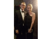 Jessica Sundquist and husband Andreas Ahlberg at 2017 Moves Power Women Gala