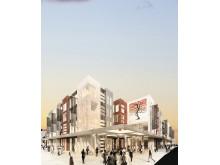 Nytt handels- och nöjeskvarter byggs i de centrala delarna av Tartu i Estland