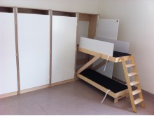 """""""Osynliga sängen""""-sängskåp från Woodwork AB"""