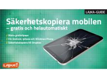Lajka-guide, lajka.se - säkerhetskopiera mobilen
