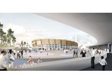 FI Olympic Stadium exterior ground level