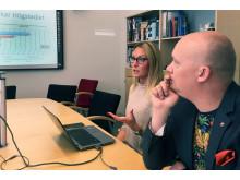 Jenny Andersson, ANDT-strateg, och Andreas Saleskog, politisk samordnare för demokrati och folkhälsa  i Karlshamns kommun.