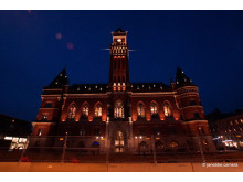 Rådhusets nya belysning: Foto Jan Ebbesson