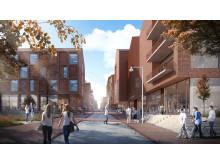 Strøget gennem Universitetsbyen i Aarhus