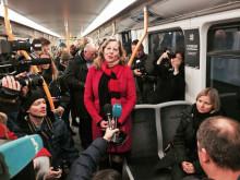 Pressemøte på T-banen