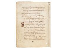Den äldsta handskriften i utställningen från 800-talet - unikt inlån från Vatikanbiblioteket!