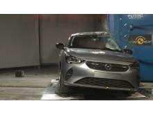 Vauxhall Corsa side crash test November 2019