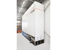 Lagerautomaten ger en mycket kompakt förvaring och frigör därmed utrymme.