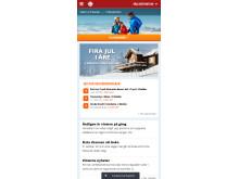 Nya skistar.com startsida mobil