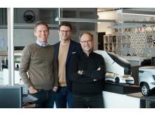 Anders Gau, Jonas Nordh und Kristofer Hansén glauben, dass sich der Scania V8 erfolgreich anpassen wird