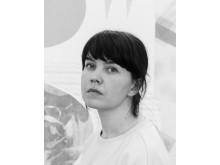 Textilkonstnären Kristina Lundsjö.
