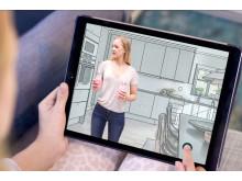 I A-hus Husbyggare kan du leva dig in i ditt nya hus direkt på nätet.