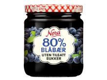 Nora uten tilsatt sukker blåbær
