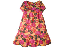 Blommig klänning orange/cerise