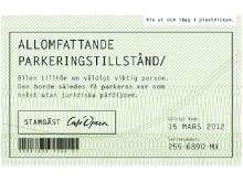 VIP-kort för Café Operas stamgäster