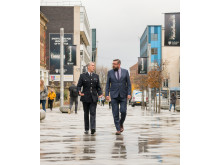 Northumbria Police Chief Constable Winton Keenen and Northumbria University Deputy Vice-Chancellor Professor Peter Francis