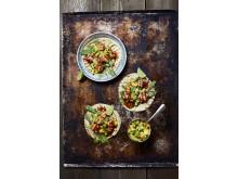Soft taco med grillad laks och mangosalsa