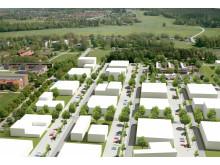 Översikt, utveckling av Ultuna i Uppsala