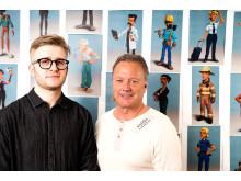 Designer Jonathan Hise Kaldma and CEO Philip Edner of Plotagon AB