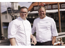 Ulf Wagner och Gustav Trädgård, kockarna bakom Sjömagasinet. Fotograf: Lee Kearnei/Sjömagasinet