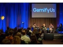 GamifyUs-besökarna jublade när Beteendelabbet presenterade sitt nudging-experiment.