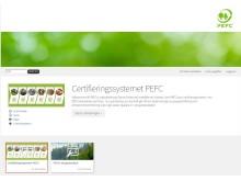 Skärmklipp startsida för webbutbildning om PEFC