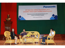 The panel discussion introduces the insiders' experiences of the work environment in Panasonic