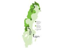 Karta avstånd BB och Dödens väg