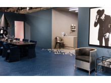 Bjelin WoodFiber Yale Blue och WoodFiber Raw. Trendutställning Stockholm Furniture Fair