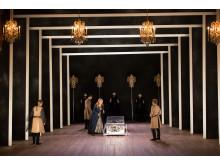 Press photo: Elisabeth Meyer, Christophe Dumaux, Miah Persson, Raffaella Milanesi. Mitridate, Drottningholms Slottsteater 2014