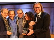 Günther Weilguni, Daniel Mani, Manfred Weilguni, Alexandra Lebelle, Erik Nissen Johansen at the Prix Versailles awards gala 12 May 2017