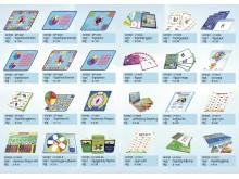 Lär dig-läsa-spelen som används i Barnfondens projekt i Kambodja