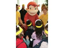 Nicke Nyfiken barnens favorit på Stena Lines barnkalas