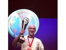 Elio Corsi på andreplass i pizza VM