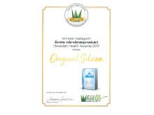 Utmärkelse Årets Hårvårdsprodukt 2017- Original Silicea