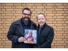 Klaus Sonstad og Åsmund Flaten lager musikk til FORUT Barneaksjonen