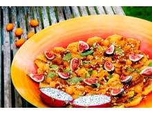 Apelsinsallad med doft av kanel och pepparmynta