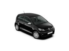 Volkswagen introducerer ny kampagnemodel: black design up!, der kan privatleases for 1.799 kr./md