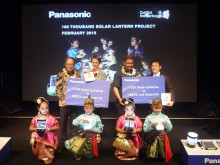 Panasonic Donates 1,020 Solar Lanterns to People of East Nusa Tenggara