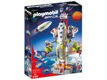 Bringt neue Astronauten auf den Mars: Die Mars-Rakete mit Startrampe (9488) von PLAYMOBIL