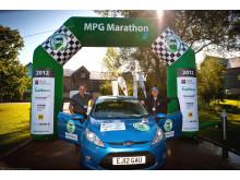 Ford Fiesta ECOnetic Technology vinner maraton i bränslesnålhet med 0,26 liter/milen