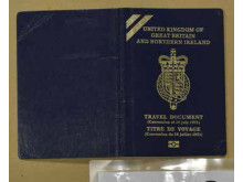 Cover of GB and NI passport recovered during the operation.