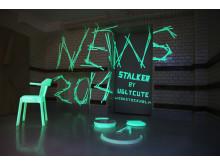 """Systemtext och White arkitekter skapar """"lysande väggdekor"""" för Woodstockholm Design Week 2014"""