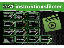 Instruktionsfilmer via QR-kod