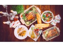 Matöverdrag i olika storlekar