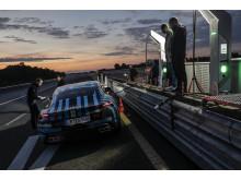 Laddstopp för Porsche Taycan på Nardò