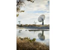 Tre av Onsalas teleskop