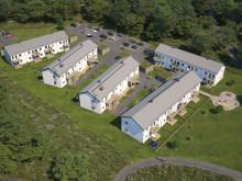 Översiktsillustration av det nya området, BoKlok Seglet i Oskarshamn.